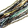 10 Strands Fire Polished Round Beads 2mm - Assorted (500 Total)