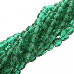 Fire Polished Faceted 4mm Round Beads 100pcs - Emerald