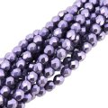 Fire Polished Faceted 4mm Round Beads 100pcs - CT SM Crocus