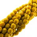Fire Polished Faceted 4mm Round Beads 100pcs - Goldenrod Mustard