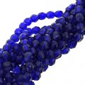 Fire Polished Faceted 4mm Round Beads 100pcs - Cobalt