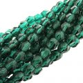Fire Polished Faceted 4mm Round Beads 100pcs - Viridian
