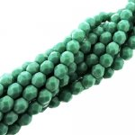 Fire Polished Faceted 4mm Round Beads 100pcs - Persian Turquoise