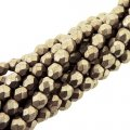 Fire Polished Faceted 4mm Round Beads 100pcs - Metallic Dogwood
