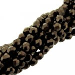 Fire Polished Faceted 4mm Round Beads 100pcs - Chocolate Bronze