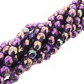 Fire Polished Faceted 4mm Round Beads 100pcs - LS Iris Tanzanite