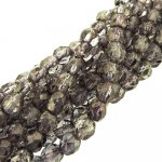 Fire Polished Faceted 4mm Round Beads 100pcs - Moondust Rosaline