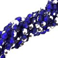 Fire Polished Faceted 4mm Round Beads 100pcs - Silver Cobalt