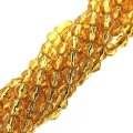 Fire Polished Faceted 4mm Round Beads 100pcs - SL Topaz