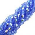 Fire Polished Faceted 4mm Round Beads 100pcs - Sapphire Blue AB