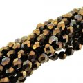 Fire Polished Faceted 4mm Round Beads 100pcs - Jet Bronze Vega