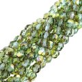 Fire Polished Faceted 4mm Round Beads 100pcs - Aqua Celcian