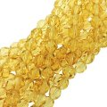 "Fire Polished Faceted 6mm Round Beads 6""str - Light Topaz"