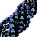 "Fire Polished Faceted 6mm Round Beads 6""str - Blue Iris"