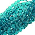 "Fire Polished Faceted 6mm Round Beads 6"" str - Teal"
