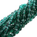 "Fire Polished Faceted 6mm Round Beads 6""str - Viridian Green"