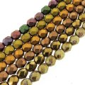 6 Strand Set Fire-Polished Faceted Beads Round 6mm - Metallics