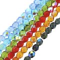 6 Strand Set Fire-Polished Faceted Beads Round 6mm - AB Colors