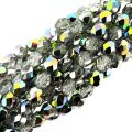 Fire Polished Faceted 6mm Round Beads 6/str - Crystal Vitrail