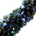 "Fire Polished Faceted 6mm Round Beads 6""str - Montana Blue AB"