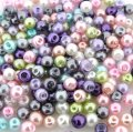 Mixed Luster Glass Pearls Round 4mm - Spring Mix (800 pcs)