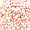 Mixed Luster Glass Pearls Round 4mm - Barely Pink Mix (800 pcs)