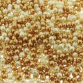 Mixed Luster Glass Pearls Round 4mm - Light Caramel (800 pcs)