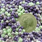 Mixed Luster Glass Pearls Round 4mm - Lavender Garden Mix 800pcs