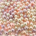 Mixed Luster Glass Pearls Round 6mm - Blush Mix (300 pcs)