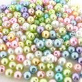 Mixed Luster Glass Pearls Round 6mm - Pastels Mix (200 pcs)