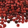 Mixed Luster Glass Pearls Round 6mm - Red Medley (300 pcs)