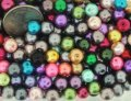 Mixed Luster Glass Pearls Round 8mm Mixed Colors. Pack of 100