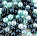 Mixed Luster Glass Pearls Round 8mm Carribean Mix Pack of 100