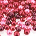 Mixed Luster Glass Pearls Round 8mm Pink Fusion Mix Pack of 100