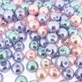 Mixed Luster Glass Pearls Round 8mm Princess Mix Pack of 100