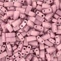 Miyuki Half Tila Beads 2.3 x 5mm 7.8GM Opq Antique Rose Luster