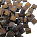 Miyuki Tila Beads 5mm 2-hole Square Matte Metallic Copper 7.2G