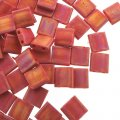 Miyuki Tila Beads 5mm 2-hole Square Matte Opaque Red AB 7.2G