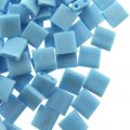 Miyuki Tila Beads 5mm 2-hole Square Matte Opaque Turquoise 7.2G