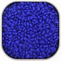 Czech MiniDuo Two-hole Beads 4x2mm Opaque Blue 8g
