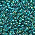 Miyuki Round Seed Beads Size 11/0 Silver Lined Emerald AB 8.5g