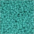 Miyuki Round Seed Beads Size 11/0 Opaque Turquoise Green 8.5G