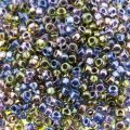 Miyuki Round Seed Beads 15/0 Lined Purple/Gold Mix 8.2G