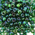 Miyuki Round Seed Beads 6/0 Silver Lined Green AB 20GM