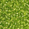 Miyuki Round Seed Beads 6/0 Silver Lined Chartreuse 20g