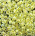 Miyuki Round Seed Beads 6/0 Light Yellow Lined Crystal AB 20GM