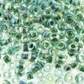 Miyuki Round Seed Beads 6/0 Lime Lined Crystal AB 20G