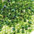 Miyuki Round Seed Beads 6/0 Green Lined Chartreuse AB 20GM