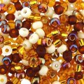 Miyuki Round Seed Beads 6/0 Honey Butter Mix 20GM
