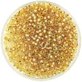 Miyuki Round Seed Beads Size 8/0 Silver Lined Gold AB 24G